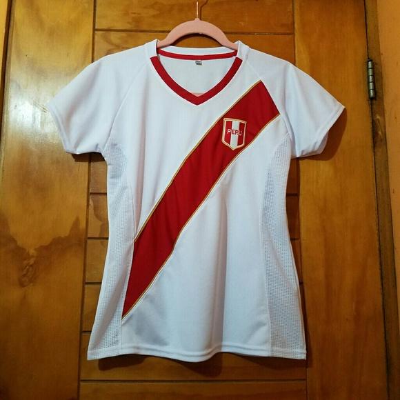 New Peru Away Women Soccer Jersey Shirt White M L 6dd6aacdc5